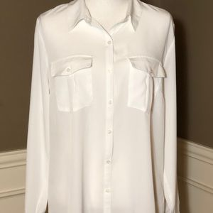 NWT White Blouse by NY Collection. Size XL.